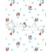 Ткань Ситец 95 бело-земельный №73011