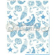 Ткань Ситец 95 бело-земельный №78691