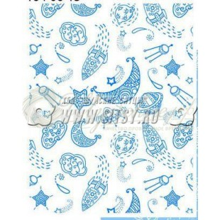Ткань Ситец 95 бело-земельный №78691 фото