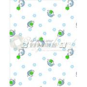 Ткань Ситец 95 бело-земельный №73012