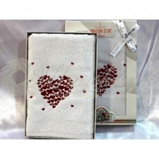 Полотенце махровое с вышивкой AMAUR  фото