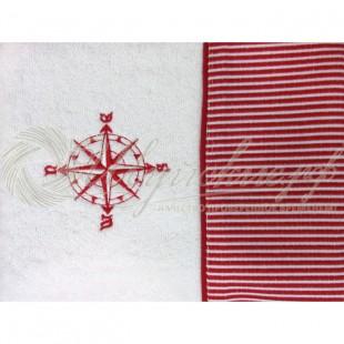 Полотенце махровое с вышивкой MARIN CIZGILI  фото
