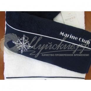 Полотенце махровое с вышивкой MARINE CLUB  фото