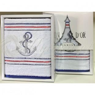 Полотенце махровое с вышивкой MARINE  фото