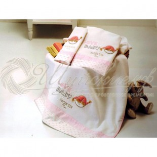Набор полотенец для девочки LOVE BABY (3 шт) фото