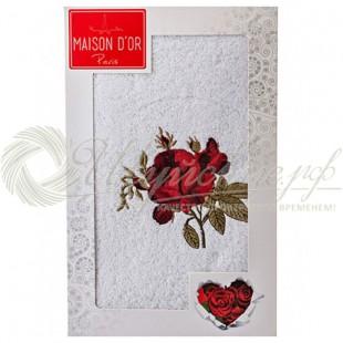 Полотенце махровое с вышивкой SINGLE ROSE фото