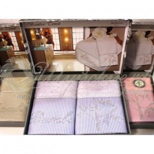 Набор салфеток махровый со стразами BAMBOO (2 шт) фото