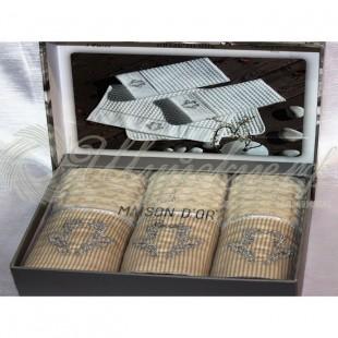Набор салфеток вафельный со стразами BRISE APONE (3 шт) фото
