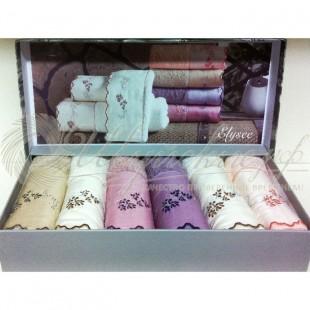 Набор салфеток махровый с вышивкой ELISSY (6 шт) фото