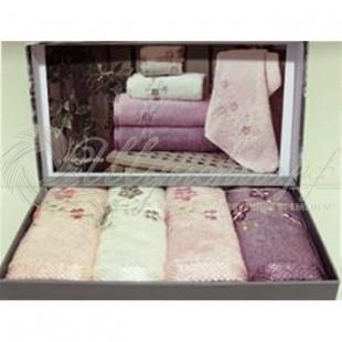 Набор салфеток махровый с вышивкой MARGARITA (4 шт) фото