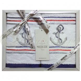 Набор салфеток махровый с вышивкой и стразами MARINA (2 шт) фото