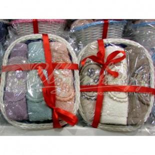 Набор махровый с вышивкой ELLA BASKET (3 шт) фото