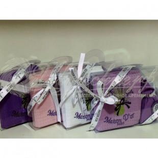 Набор вафельный LAVANTA (полотенце + лепестки лаванды) фото