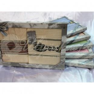 Набор махровый/вафельный TRENDY (2 шт) фото