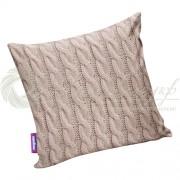 Подушка «Вязаные косички» бежевый