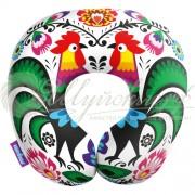 Подушка под шею «Петухи красавцы»