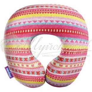 Подушка под шею «Бабушкино вязание» фото
