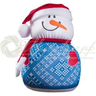 "Игрушка «Добрый снеговичок"" синий фото"