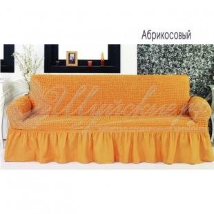 Чехол на трёхместный диван Венера абрикосовый фото