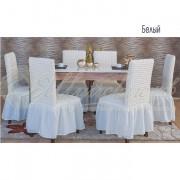 Комплект чехлов для стульев Венера, белый