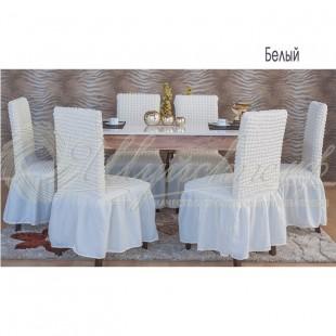 Комплект чехлов для стульев Венера, белый фото