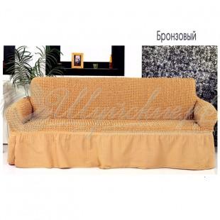 Чехол на трёхместный диван Венера бронзовый фото