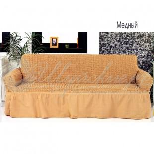 Чехол на трёхместный диван Венера медный фото