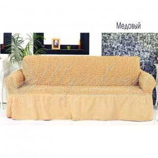 Чехол на трёхместный диван Венера медовый фото