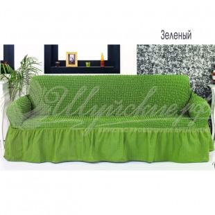 Чехол на трёхместный диван Венера зеленый фото