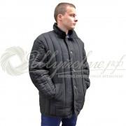Куртка ватная диагональ 44-46(170-176) черная