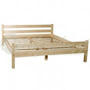 Деревянная двуспальная кровать 140х200 см