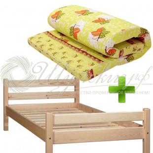Кровать с матрасом 90х200  фото