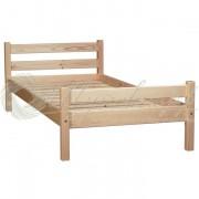 Деревянная односпальная кровать 80х200 см