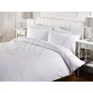 Белое постельное бельё Сатин фото