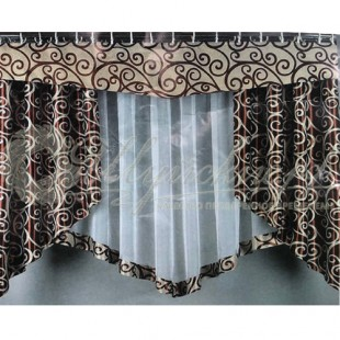 Комплект Фаина (шторы, тюль, ламбрекен) фото