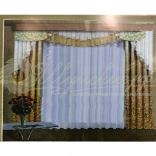 Комплект Эвелина (шторы, тюль, ламбрекен) фото