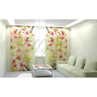 Фотошторы Воздушная орхидея фото