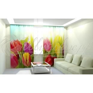 Фотошторы Солнечные тюльпаны фото