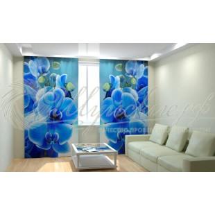 Фотошторы Голубая орхидея фото