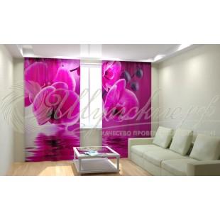 Фотошторы Розовая орхидея фото