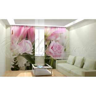 Фотошторы Нежная розовая лилия фото