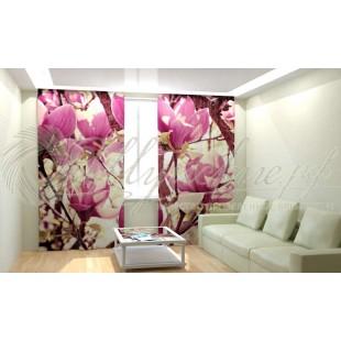 Фотошторы Цветочное розовое дерево фото