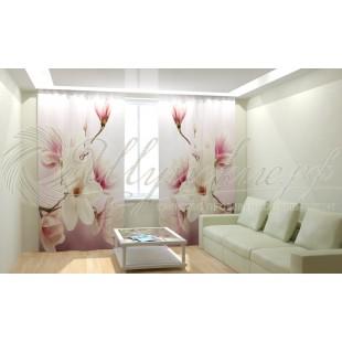 Фотошторы Нежные розовые цветочки фото