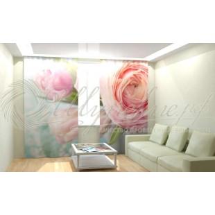Фотошторы Розовый цветок фото