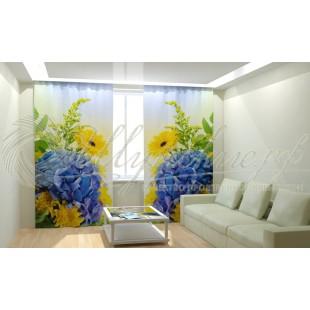 Фотошторы Синие цветы фото