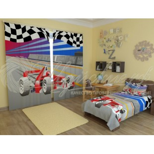 Фотошторы Формула 1 красная фото