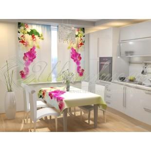 Фотошторы Веточка орхидеи фото
