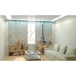 Фотошторы Вид на Париж фото