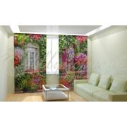 Фотошторы Дом в цветах