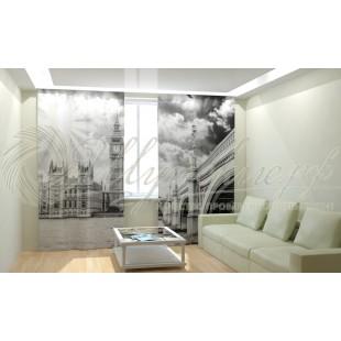 Фотошторы Лондон черно-белый фото
